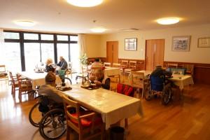 入居者様の共同の広間です。お食事、お茶、レクリエーションなど皆様の憩いの場としてご利用していただけます。